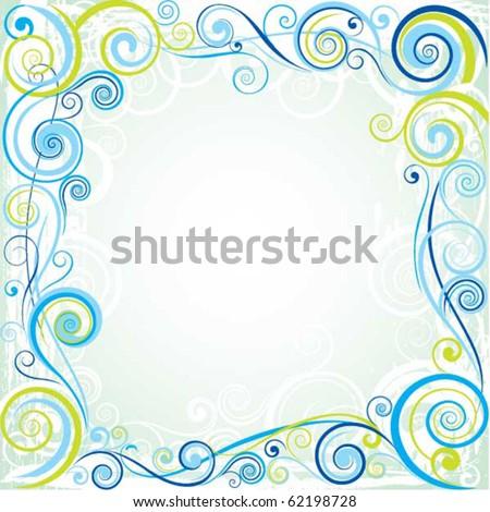 Spiral color design - stock vector