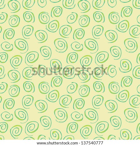 Spiral Seamless Pattern (repetitive) on beige background. Illustration is in eps8 vector mode. - stock vector