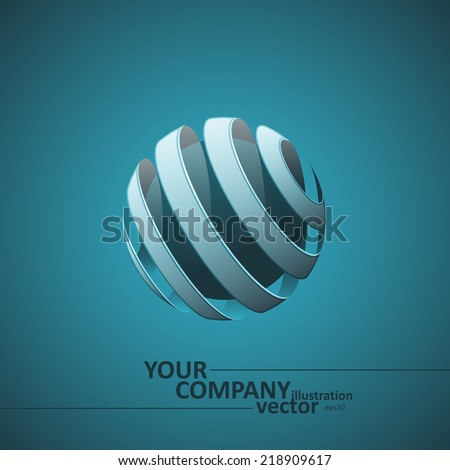 Spiral Sphere Abstract Lines, Vector Illustration eps10, Graphic Concept  For Your Design. - stock vector