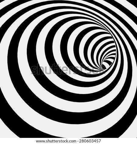 Spiral Striped Abstract Tunnel Background. Vector Illustration - stock vector