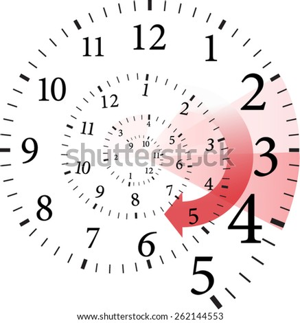 spiral time change  - stock vector