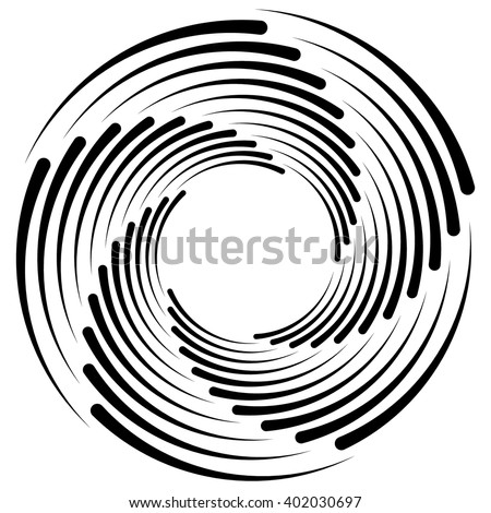 Spiral, vortex, swirl shape(s). Abstract element(s). - stock vector