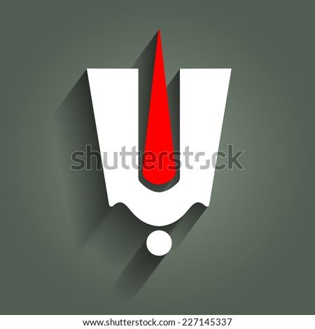 Spiritual Indian God Tilak Sign - stock vector