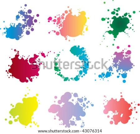 splash color - stock vector