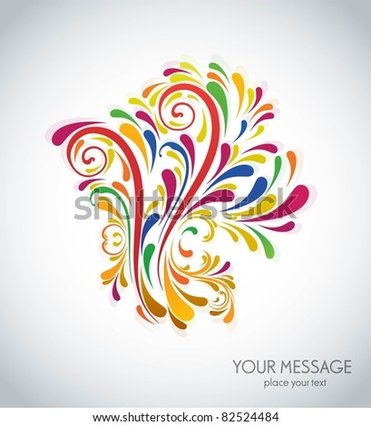 Splash of floral and ornamental vector - stock vector
