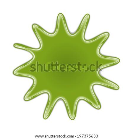 splash. spot of color. green. vector eps10 - stock vector