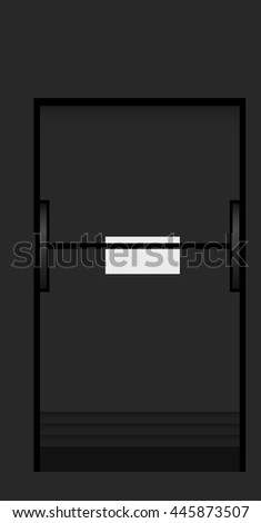 Split flap mechanical board detail. Part of airport schedule mechanical board display. Vintage technology detail illustration. - stock vector