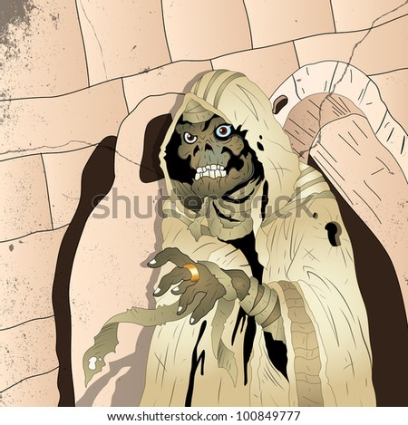 Spooky Mummy - stock vector