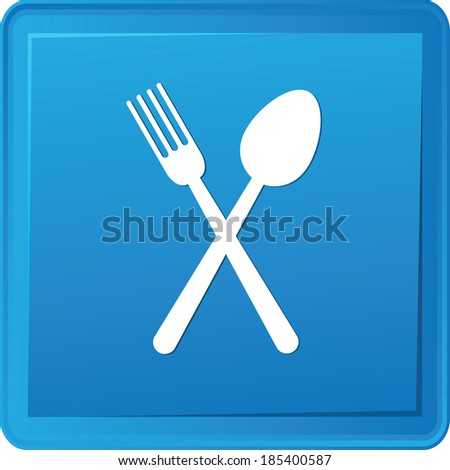 Spoon button,vector - stock vector