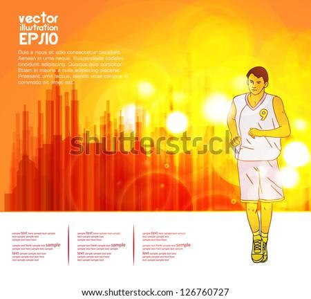 Sport background. Vector - stock vector
