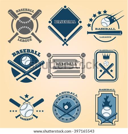 Sport baseball icon set  eps 10 vector - stock vector