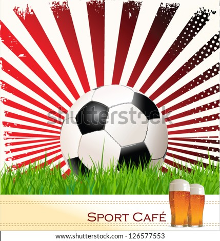 Sport cafe background - stock vector