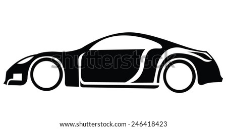 Sport Car Symbol - stock vector