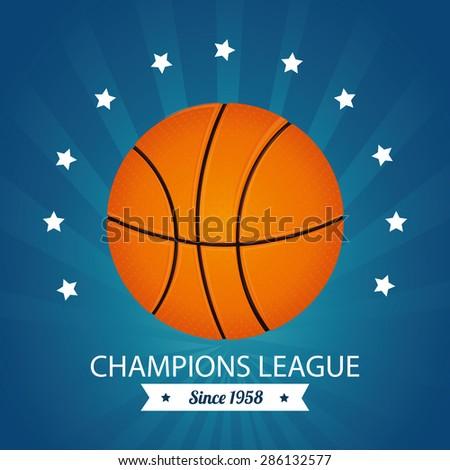 Sport design over blue background, vector illustration. - stock vector