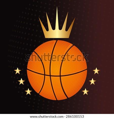 Sport design over brown background, vector illustration. - stock vector