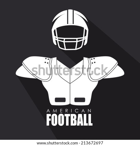 Sport design over gray background, vector illustration - stock vector