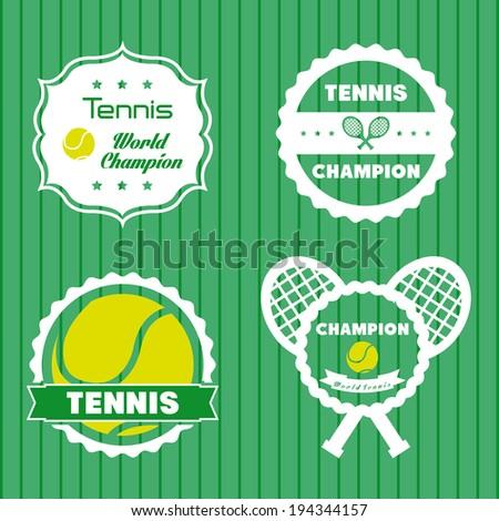 Sport design over green background, vector illustration - stock vector