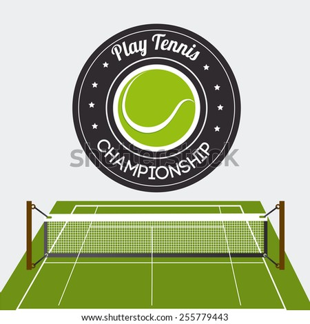 Sport design over white background, vector illustration. - stock vector