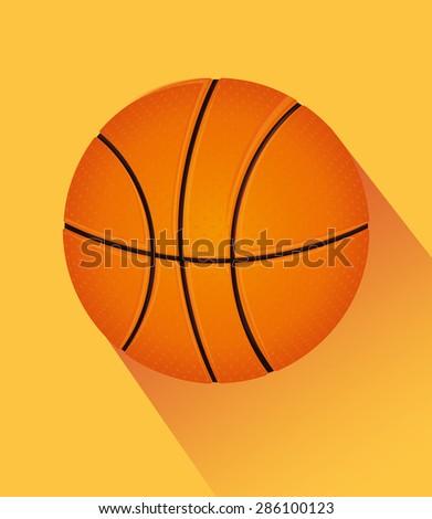 Sport design over yellow background, vector illustration. - stock vector