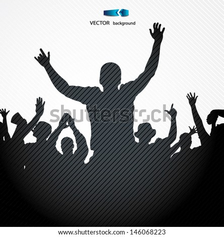 Sport Fans. Poster for sports championships - stock vector
