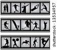 sport filmstrip scene vector - stock vector