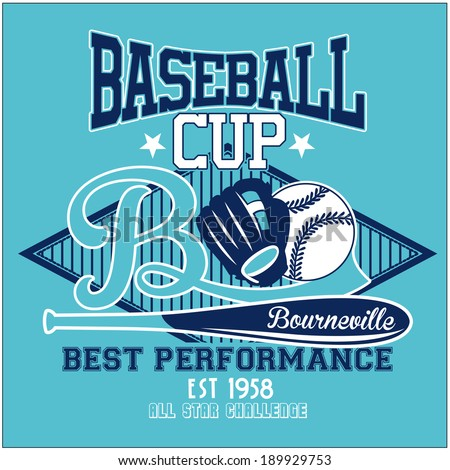 sport graphics for t-shirt and varsity - stock vector