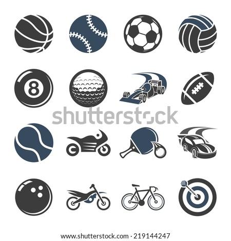 Sport icon set - stock vector