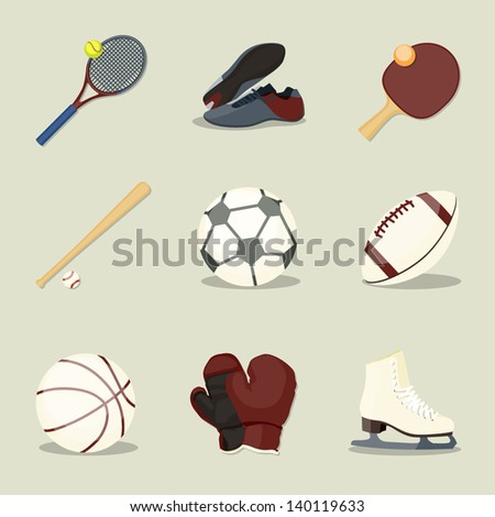 Sport icons. Simple vector sport icons - stock vector