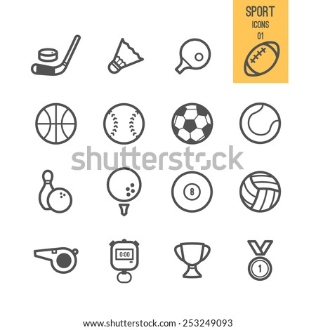 Sport icons. Vector illustration. - stock vector