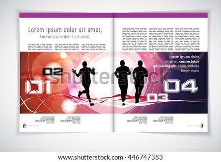 Sport layout magazine, vector - stock vector