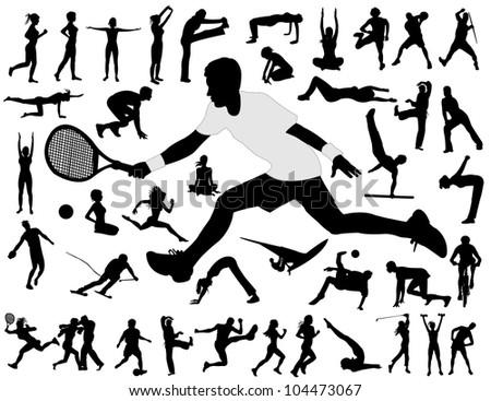 Sport people - stock vector