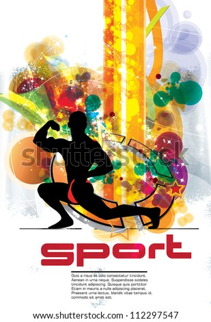 Sport poster - stock vector