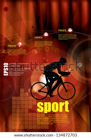 Sport poster. Vector - stock vector