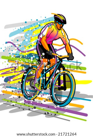 Sport series: bicyclist - stock vector