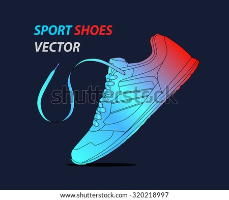 Sport shoes. sneakers icon. Vector illustration. - stock vector