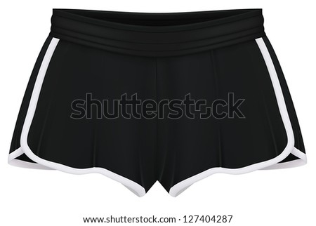 Sport shorts template. - stock vector