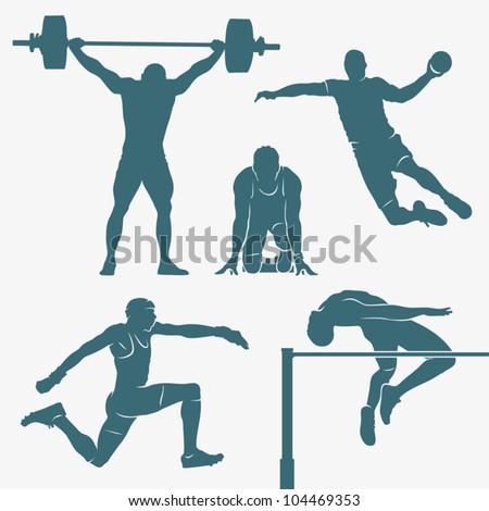 Sport silhouettes - vector illustration - stock vector