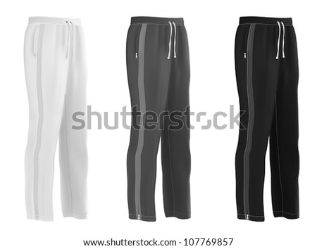 Sport sweatpants set. - stock vector