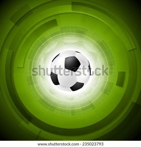 Sport tech football background. Vector design - stock vector