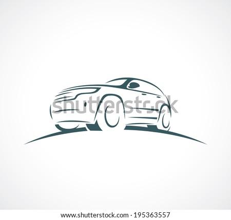 Sport utility vehicle symbol - vector illustration - stock vector