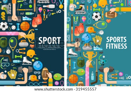 sport vector logo design template. gymnastics or fitness icons - stock vector