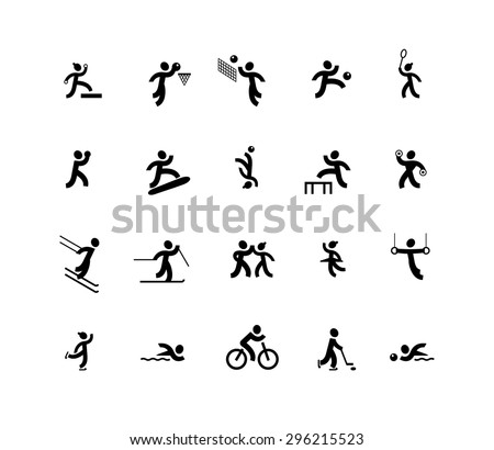 Sports and dancing icons - stock vector