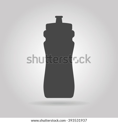 Sports bottle with water icon - stock vector