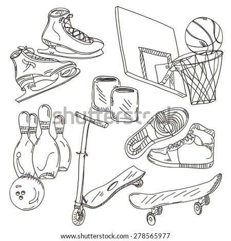 Sports Collection - stock vector