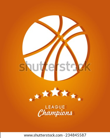 Sports design over orange background, vector illustration - stock vector