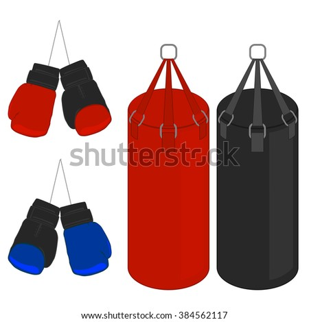 sports equipment for boxing. - stock vector