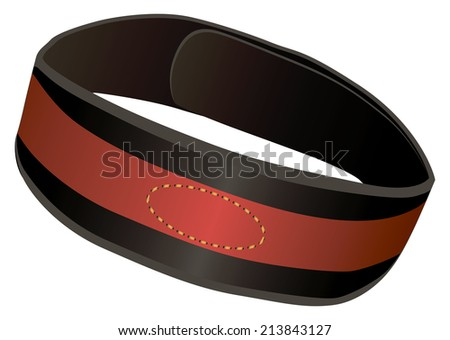 Sports Equipment for practicing weightlifting, athletic belt. Vector illustration. - stock vector