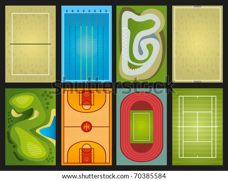 sports grounds - stock vector