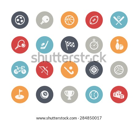 Sports Icons // Classics Series - stock vector