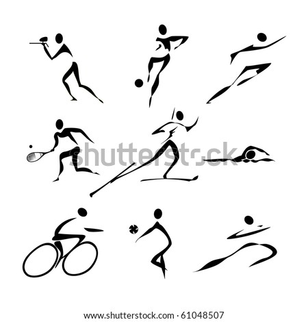 Sports icons collection for website or logo - stock vector